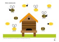 dokończ rysować pszczoły według wzoru